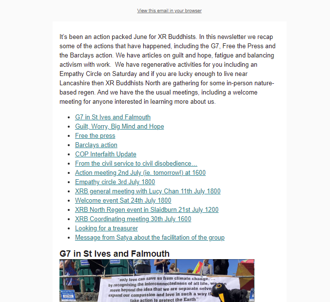 a preview of the newsletter