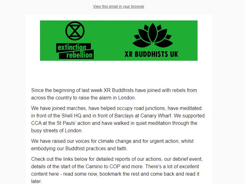 a screen shot of the September newsletter